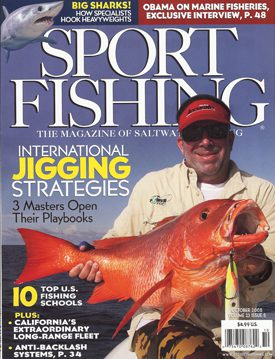 The cover of the Sport Fishing Magazine that featured the Fisherman's Post Saltwater Fishing School as one of the top ten fishing schools in the nation.