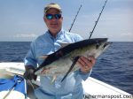 """Will Snellgrove, of Ft. Mill, SC, with a blackfin tuna that bit a ballyhoo behind a trolling weight near the Steeples while he was fishing out of Holden Beach aboard the """"Pokey."""""""