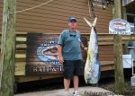 Leroy Everhard, from Kernersville, NC, with a 57 lb. dolphin that he hooked while trolling near the Big Rock. Weighed in at Chasin' Tails Outdoors.