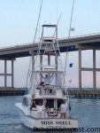 """William and Wayne Reynolds and Brantley Guinn celebrate a grand slam of billfish releases they found off Oregon Inlet in late August while trolling aboard the """"Miss Shell."""""""
