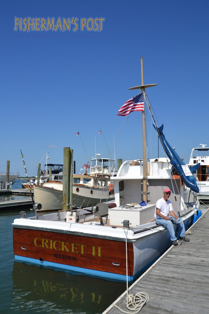 The Cricket II, the boat that inspired the book and movie JAWS, docked at Beaufort's Wooden Boat Show this spring, and it currently is operating out of Homer Smith Seafood Company taking Wounded Warriors and disabled veterans on fishing trips.